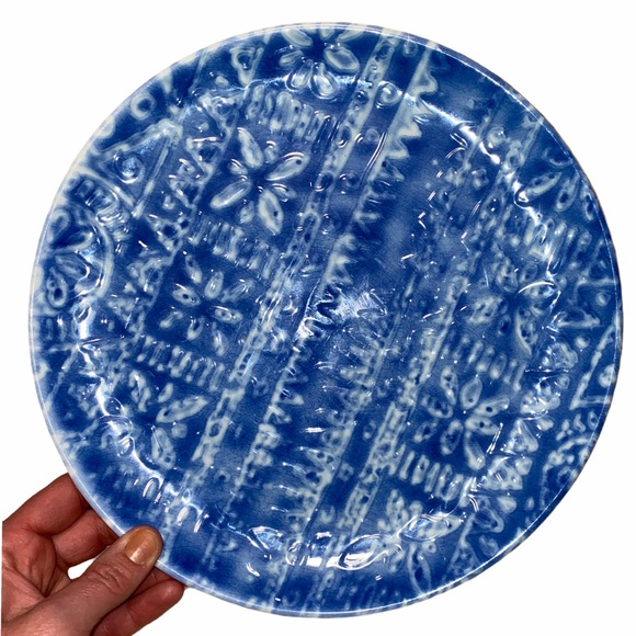 Threshold Melamine Blue Pattern Plate